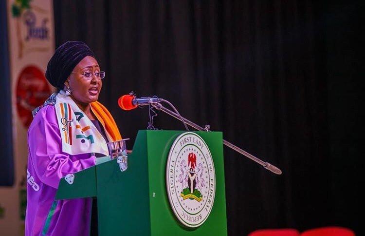 Nigeria's First Lady, Aisha Buhari, wants the country to implement a total lock down to contain coronavirus [Twitter/@aishambuhari]
