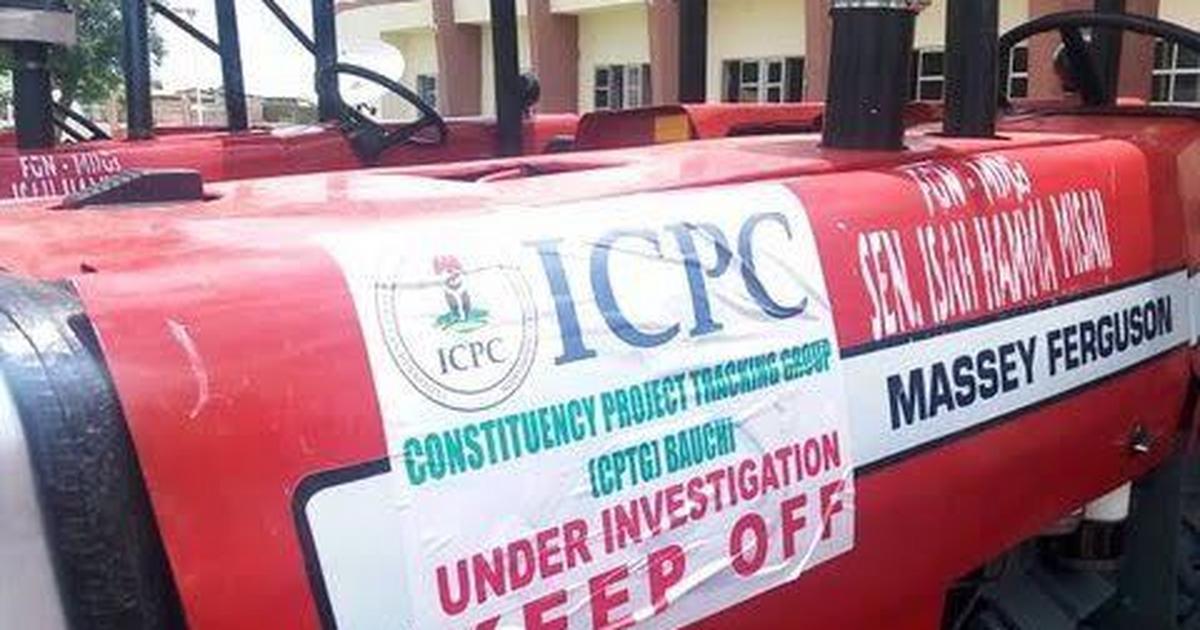 ICPC hands over 6 tractors recovered from Bauchi Senator to LGAs - Pulse Nigeria