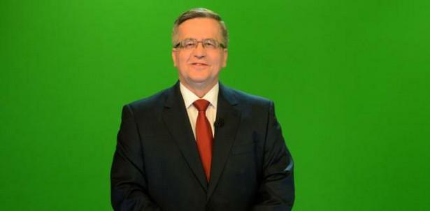 Bronisław Komorowski podczas debaty w wirtualnym studiu TVN w Warszawie
