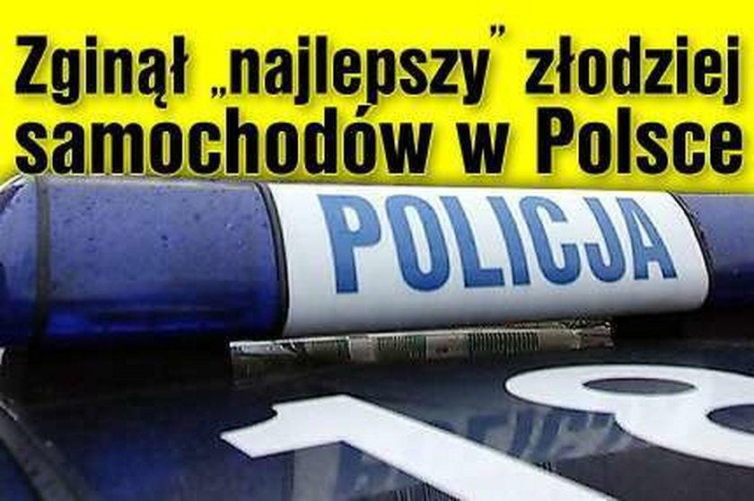 """Zginął """"najlepszy"""" złodziej samochodów w Polsce"""