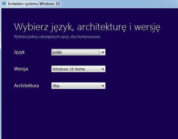 Tworzenie nośnika instalacyjnego dla Windows 10, fot. własne