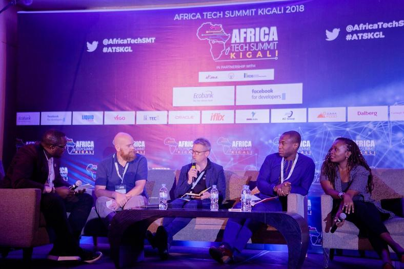 Panellists at the 2018 Africa Tech Summit in Kigali