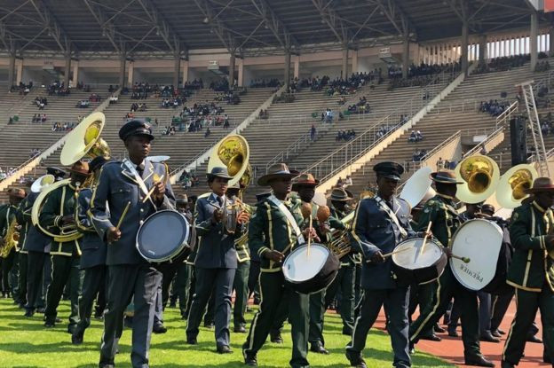 Military band getting ready for Mugabe's funeral