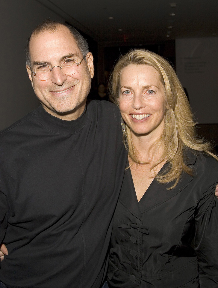 Steve Jobs z żoną Laurene Powell-Jobs