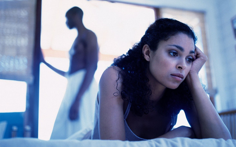 Sexually frustrated woman moping [Credit: Ebony Mag]