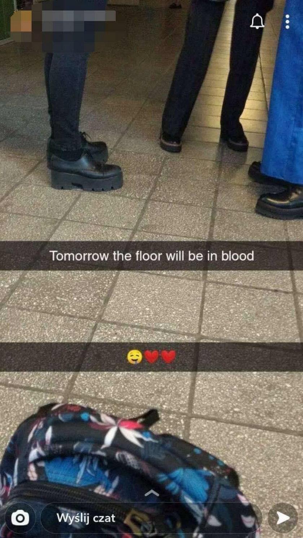 Dzień wcześniej zapowiadała, że poleje się krew!