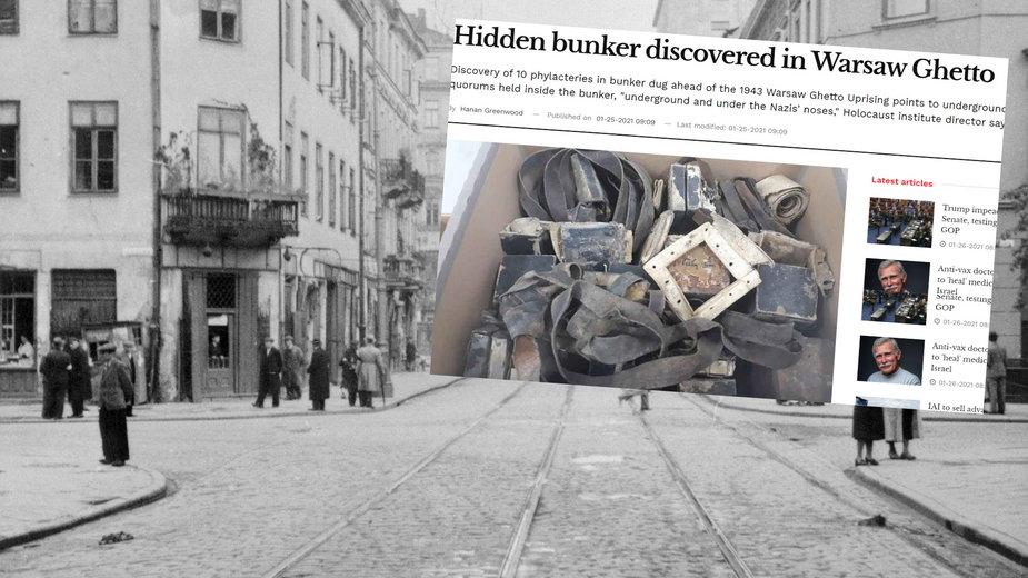 Przedmioty znalezione na budowie na terenie dawnego getta warszawskiego wywieziono do Izraela?