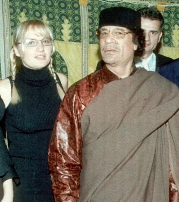 Vesna da Vinča i Moamer el Gadafi