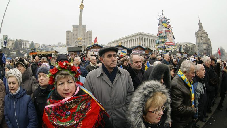 Protestujący na Ukrainie