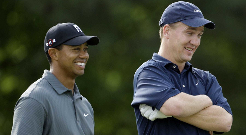 Peyton Manning once trash-talked Tiger Woods so mercilessly on the golf course that Woods used it as motivation to get better and force Manning to change his audibles