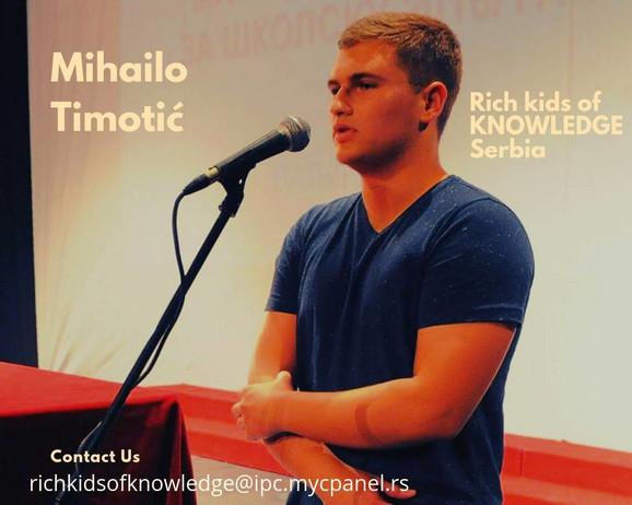 Mihailo Timotić đak generacije