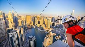Najdłuższa na świecie miejska tyrolka otwarta w Dubaju