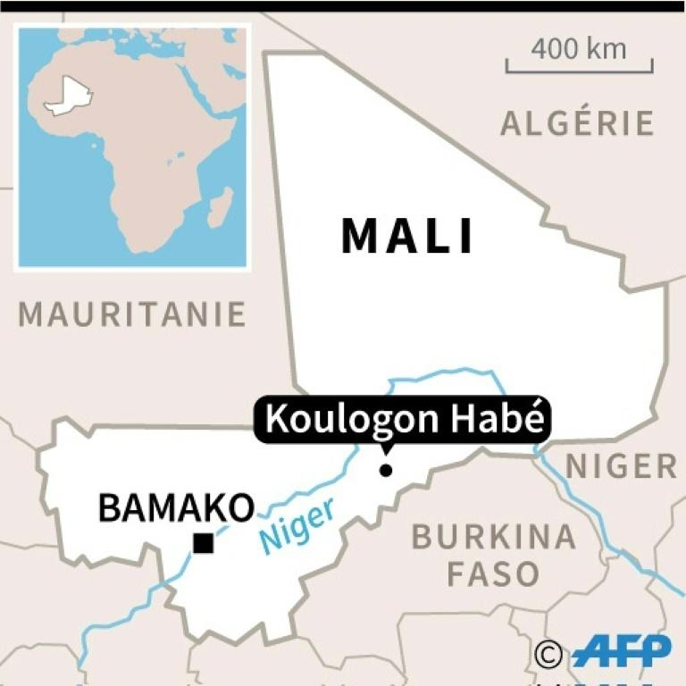 Map of Mali with location of Koulogon Habe
