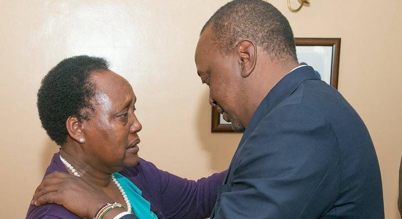 President Uhuru Kenyatta and Hellen Nkaissery