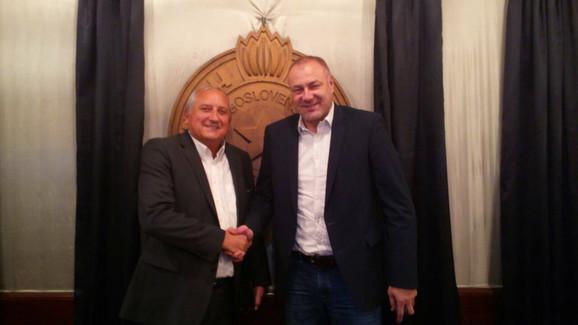 Predsednik Skupštine OK Partizan Nenad Golijanin i predsednik kluba Željko Tanasković