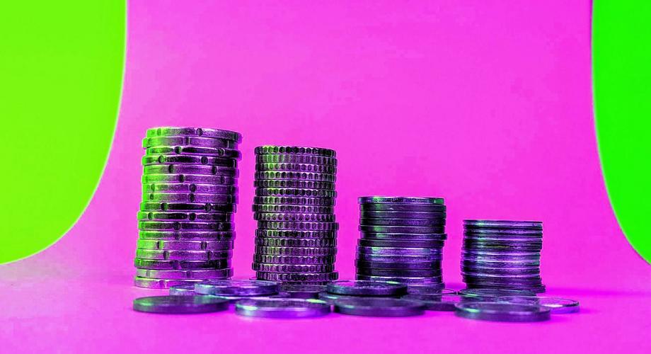 Münzen pink DB