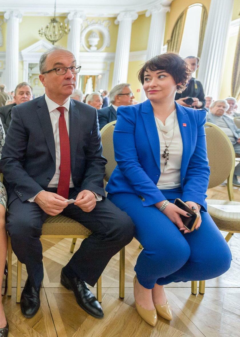 Włodzimierz Czarzasty i Anna Maria Żukowska