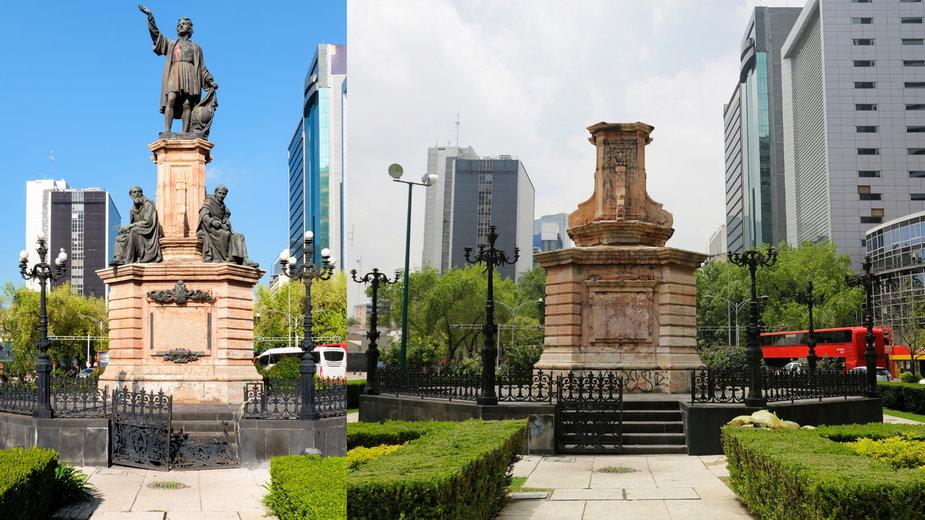 Pomnik Kolumba w stolicy Meksyku zostanie zastąpiony prekolumbijską figurą