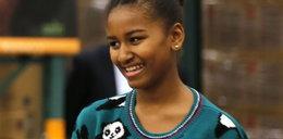 Sasha Obama w uroczym sweterku