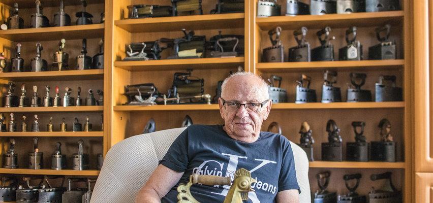 Pan Jerzy nie lubi prasować, ale ma w domu 900 żelazek
