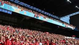 There will be a raucous crowd at the Parken Stadium hoping to cheer Denmark into the last 16 Creator: Jonathan NACKSTRAND