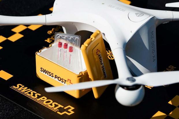 Szwajcarskie szpitale korzystają z dronów