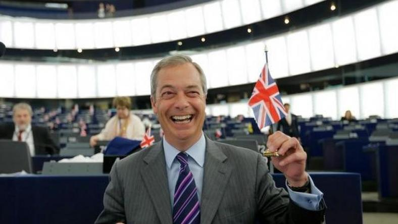 "Triumph for ""Brexiteer"" Nigel Farage, British scourge of the EU"