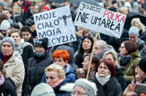 Poljska, protest, EPA - ANDRZEJ GRYGIEL