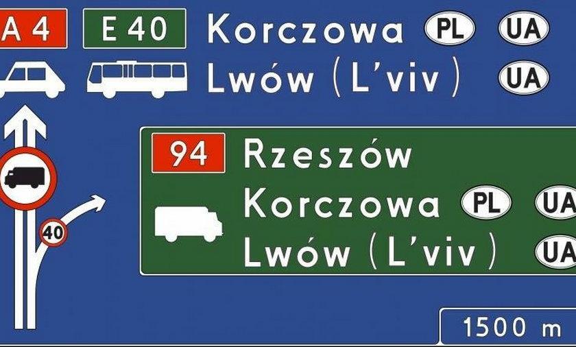nazwy zagranicznych miast na znakach drogowych będą zapisywane także po polsku