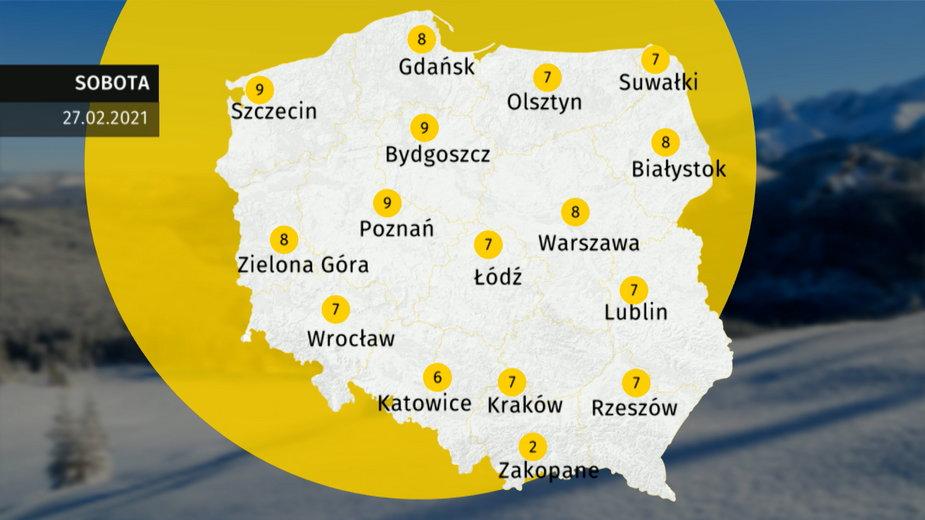 Prognoza pogody dla Polski. Jaka pogoda w sobotę 27 lutego 2021?