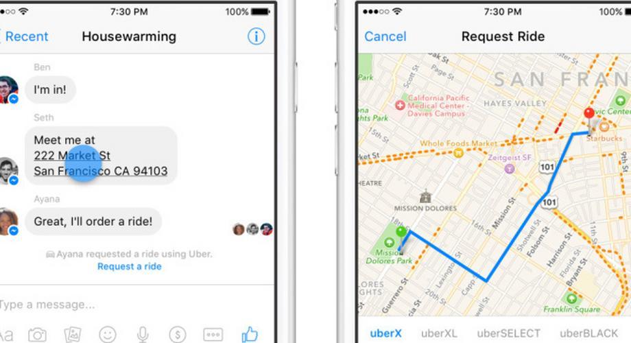 Ohne Umwege: Uber-Fahrer per Facebook Messenger bestellen