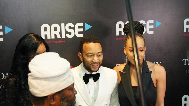 John Legend performed at the an event in Lagos on Monday (Instagram/thisdaystyle)