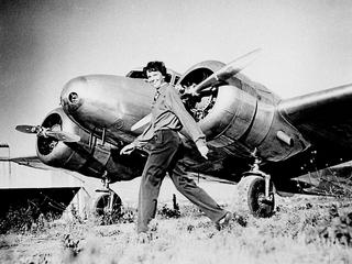 "Amelia Earhart and Lockheed ""Electra 10E"" NR16020, 1937."