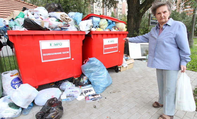 Śmieci w Warszawie