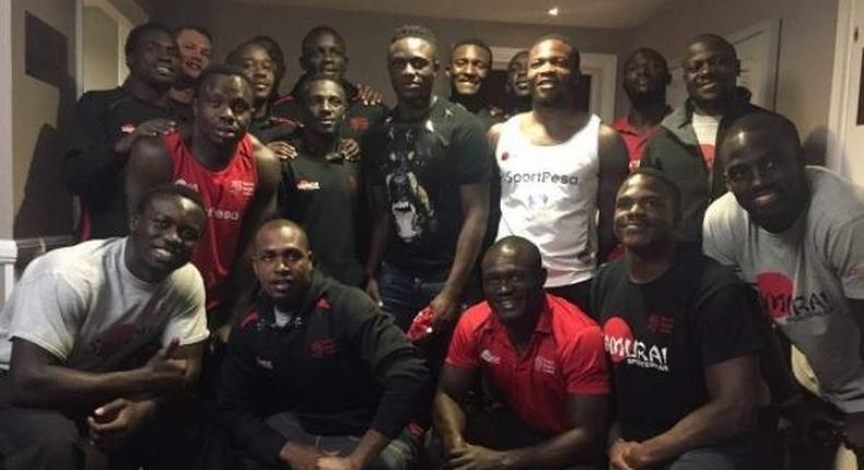 Harambee Stars captain when he paid a courtesy call to the Kenya Sevens rugby team ahead of the #London7s