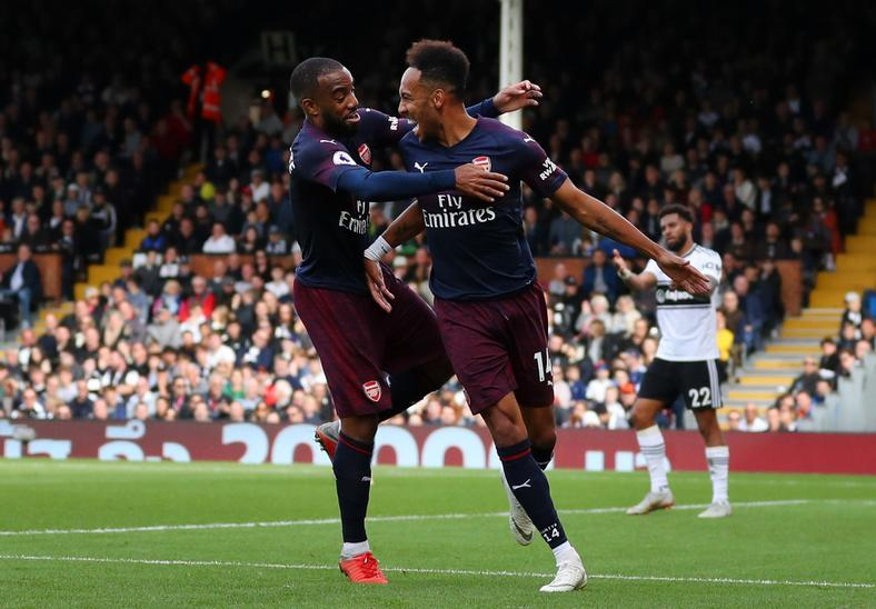 Alexandre Lacazette and Pierre-Emerick Aubameyang.