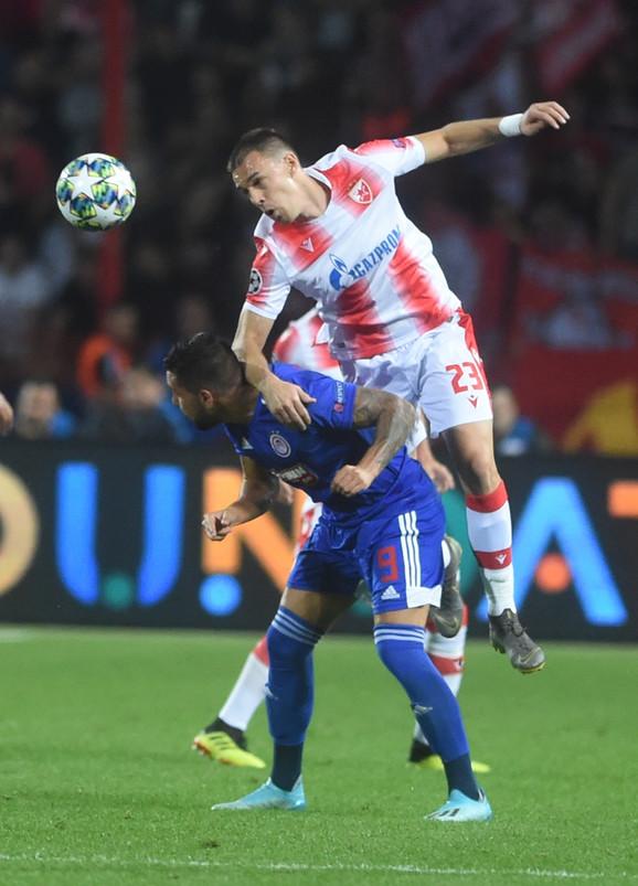 Detalj sa meča FK Crvena zvezda - Olimpijakos