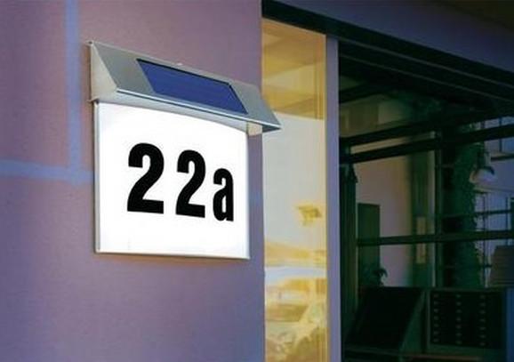 Solarna LED kućna tabla