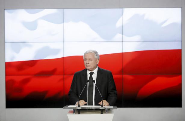 Jarosław Kaczyński na konferencji PiS w Warszawie