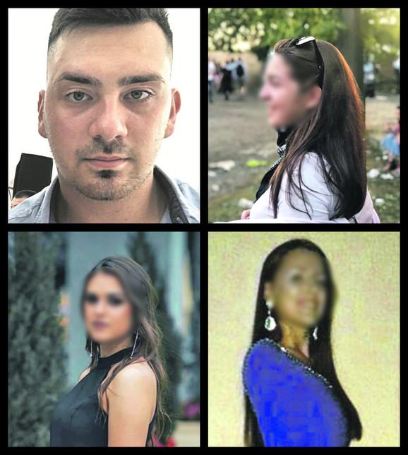 Sara L. (18), Miodrag J. (19), Ivana B. (20) i Tanja L. (18)