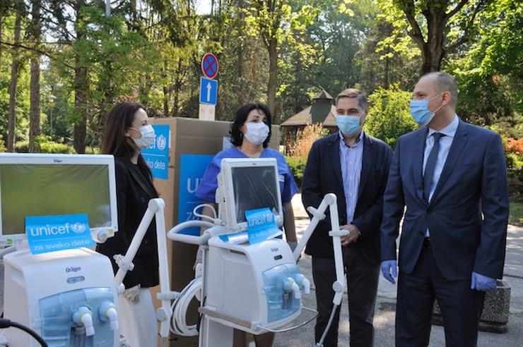 Unicef donacija respiratora