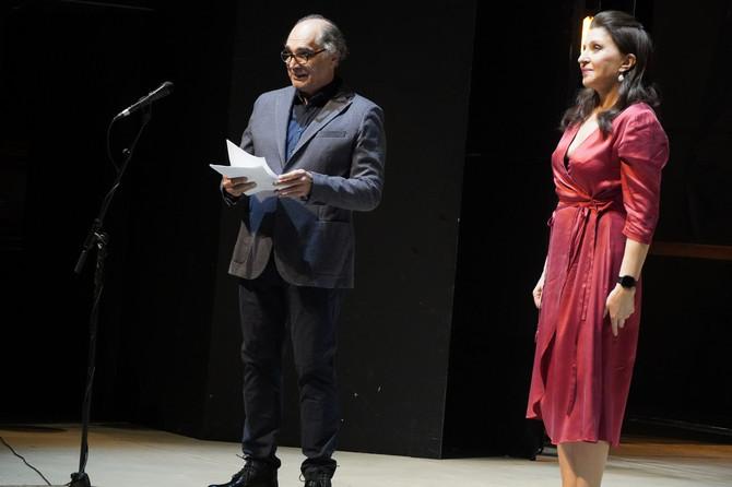 Mira na sceni JDP - a sa Vojislavom Vojom Brajovićem