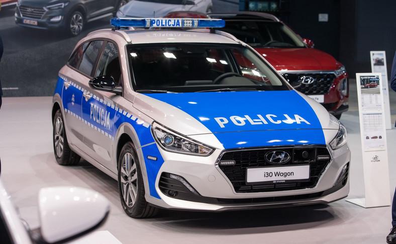 Policyjny i30 Wagon był jedną z gwiazd Hyundaia w czasie XI edycji Ogólnopolskich Targów Motoryzacyjnych i Biznesowych - Fleet Market 2019 zorganizowanych w Warszawie