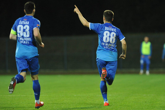 Proslava gola igrača tima iz Lučana