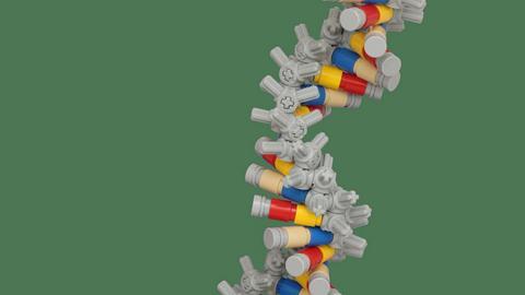 Zakodowanie oprogramowania w nici DNA nie należy do łatwych. Na szczęście same nici kupić można w sieci. Na zdjęciu: wizualizacja nici DNA z klocków