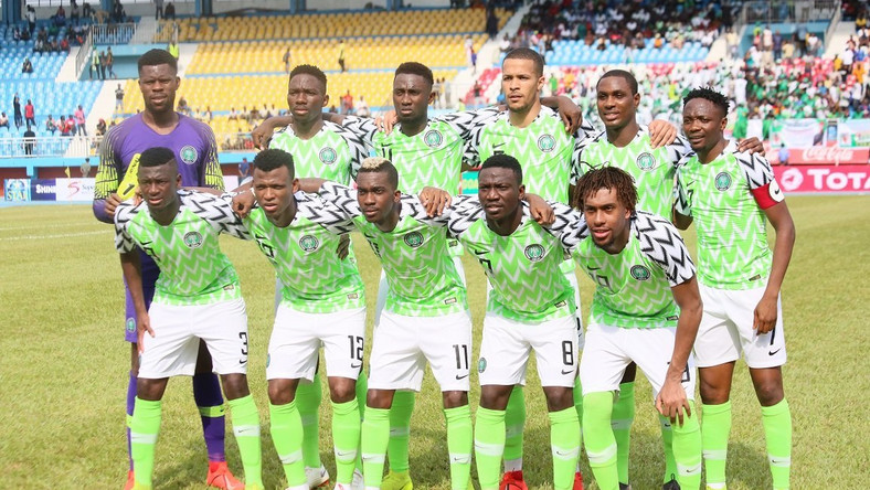 Super Eagles of Nigeria drop in the recent FIFA Ranking (Twitter/GovIfeanyiOkowa)