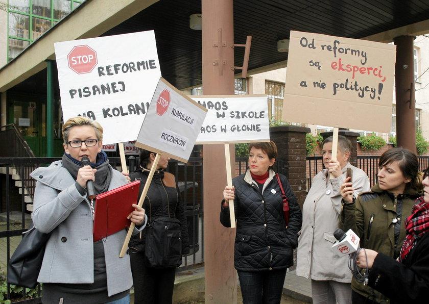 Strajk rodziców przeciwko reformie edukacji