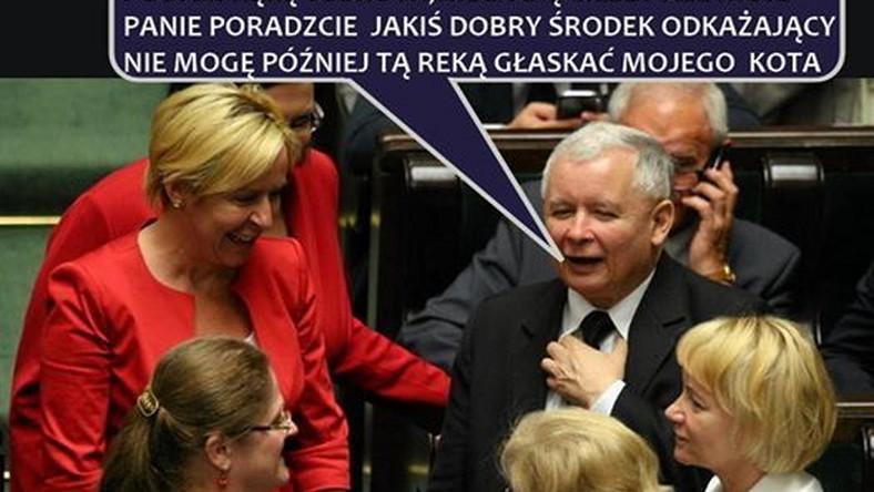 """Zdaniem Joachima Brudzińskiego, podając rękę Donaldowi Tuskowi Jarosław Kaczyński """"zneutralizował groźną pułapkę, zastawioną na niego przez PO""""."""