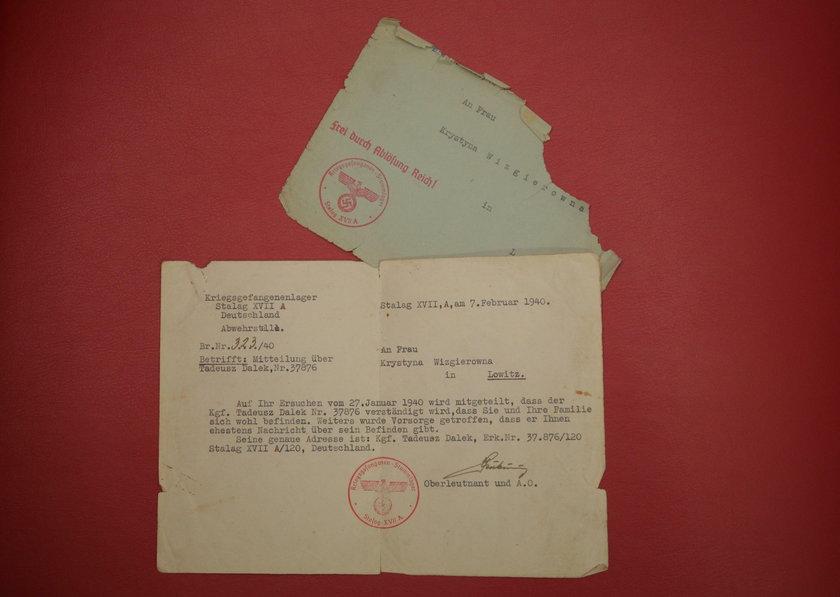 List z obozu jenieckiego
