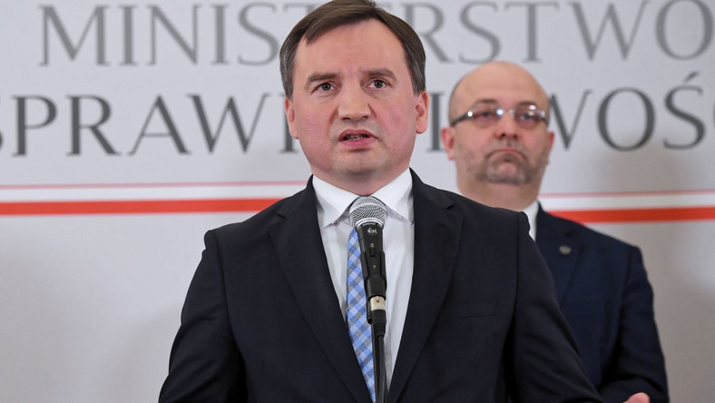 Zbigniew Ziobro z Łukaszem Piebiakiem
